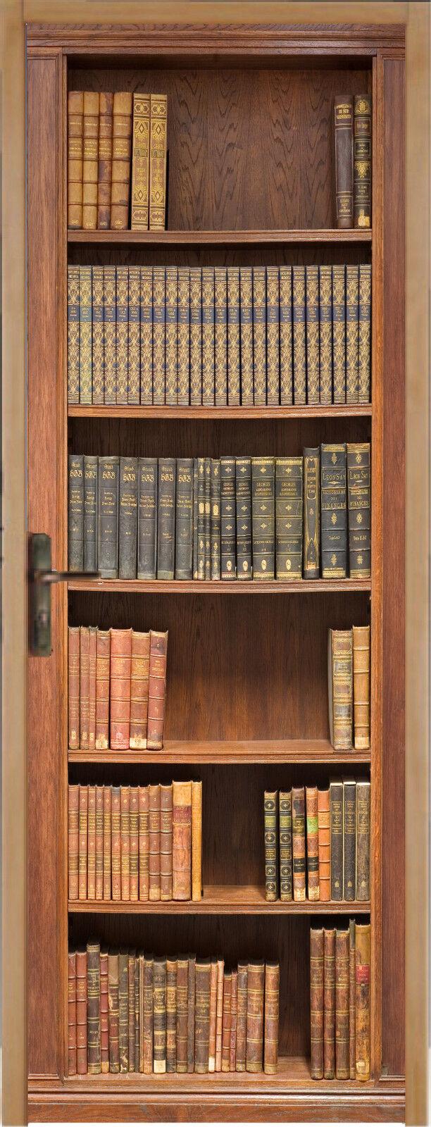 Adhesivo para Puerta Plana Biblioteca 63x204cm Ref 201