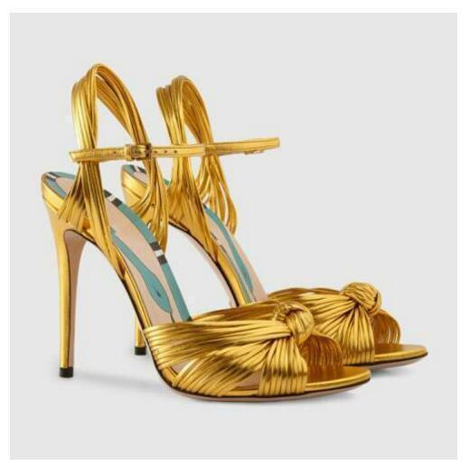 2018 New Womens Gold Glitter Ankle Strap Peep Toe Slingbacks Sandals Shoes Vogue