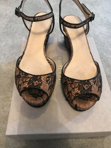 Jimmy Choo Pearla 70 NaturelNoir Taille 40 afficher le titre d'origine
