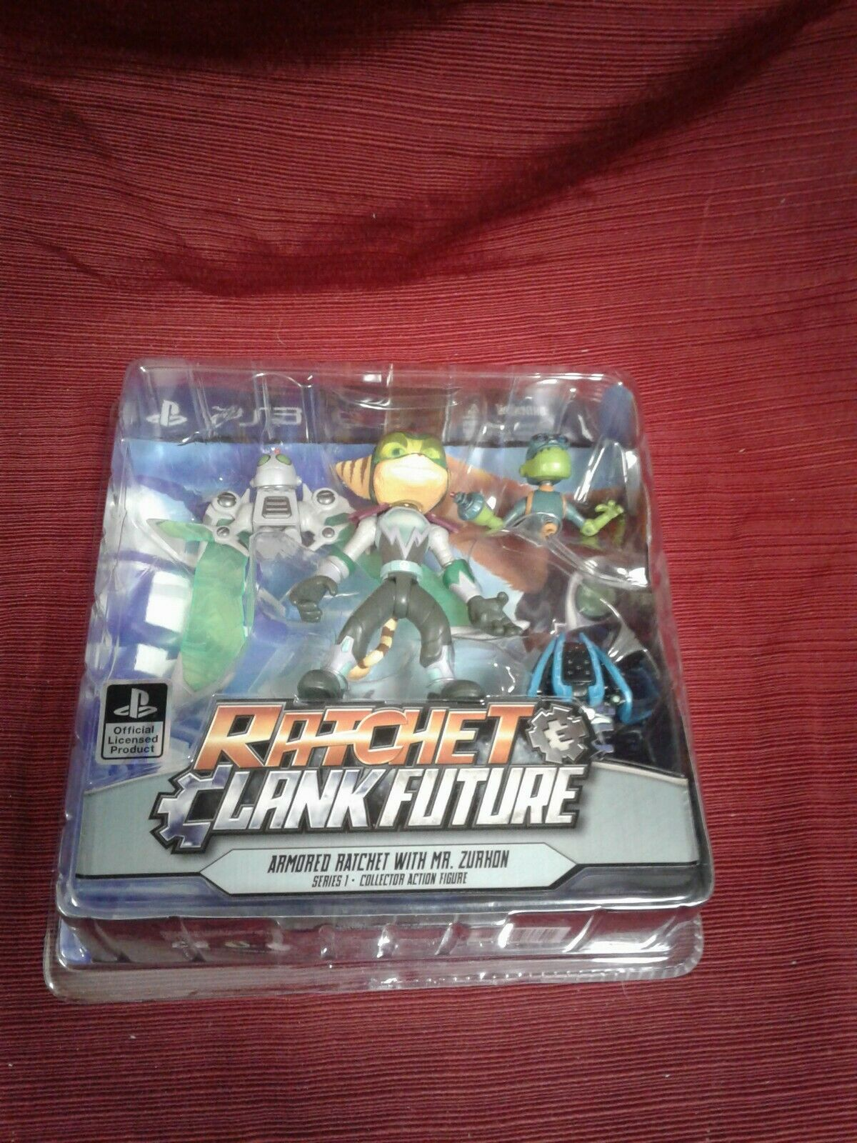 Rare sealed Ratchet Clank Future Armorosso Ratchet Mr. Zurkon azione fig gift ps3
