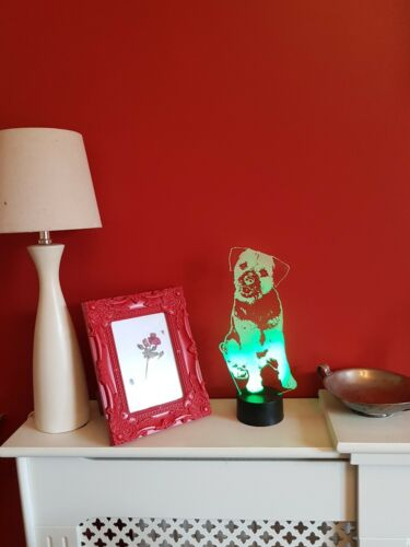 Border Terrier Acrylic LED Lamp Gift