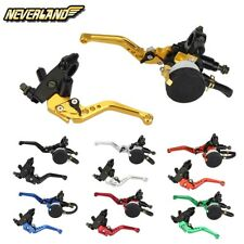 Universal 7/8'' 22mm Front Brake Clutch Master Cylinder Reservoir Levers
