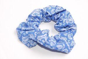 AgréAble Unique Femmes Bleu Foncé/blanc Bandana Imprimé Cheveux Chouchou Chic (s210)
