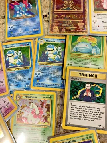 Pokemon TCG Original WOTC Base Set 25 Card Lot GUARANTEED RARE HOLO