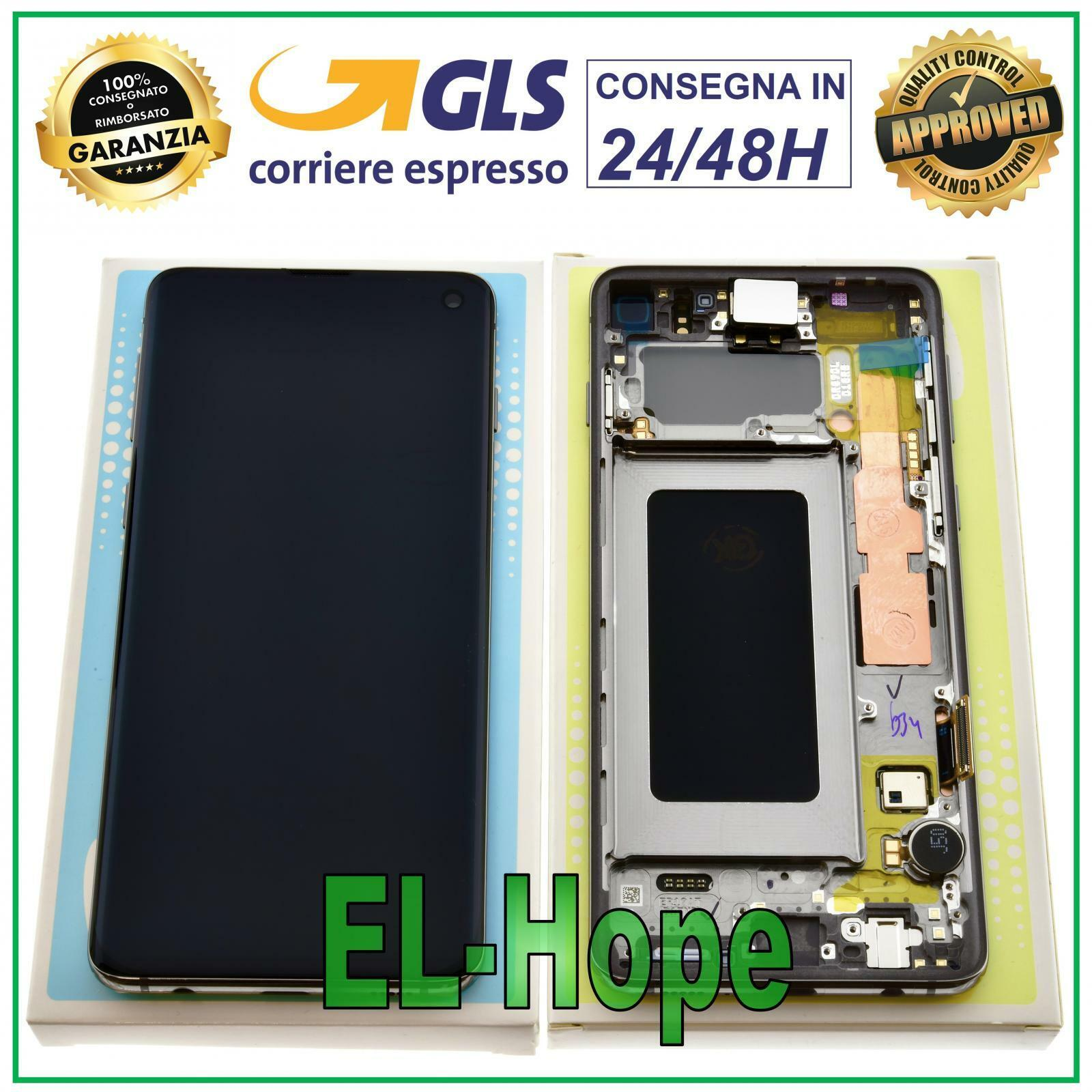Samsung Galaxy: DISPLAY LCD ORIGINALE SAMSUNG GALAXY S10 SM-G973F DS TOUCH SCREEN PRISM NERO