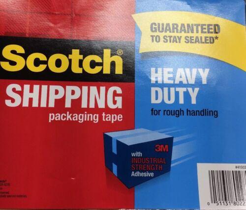 Scotch 3M Shipping Packaging Tape Heavy Duty 1.88 IN x 54.6 YD 2 LOT New