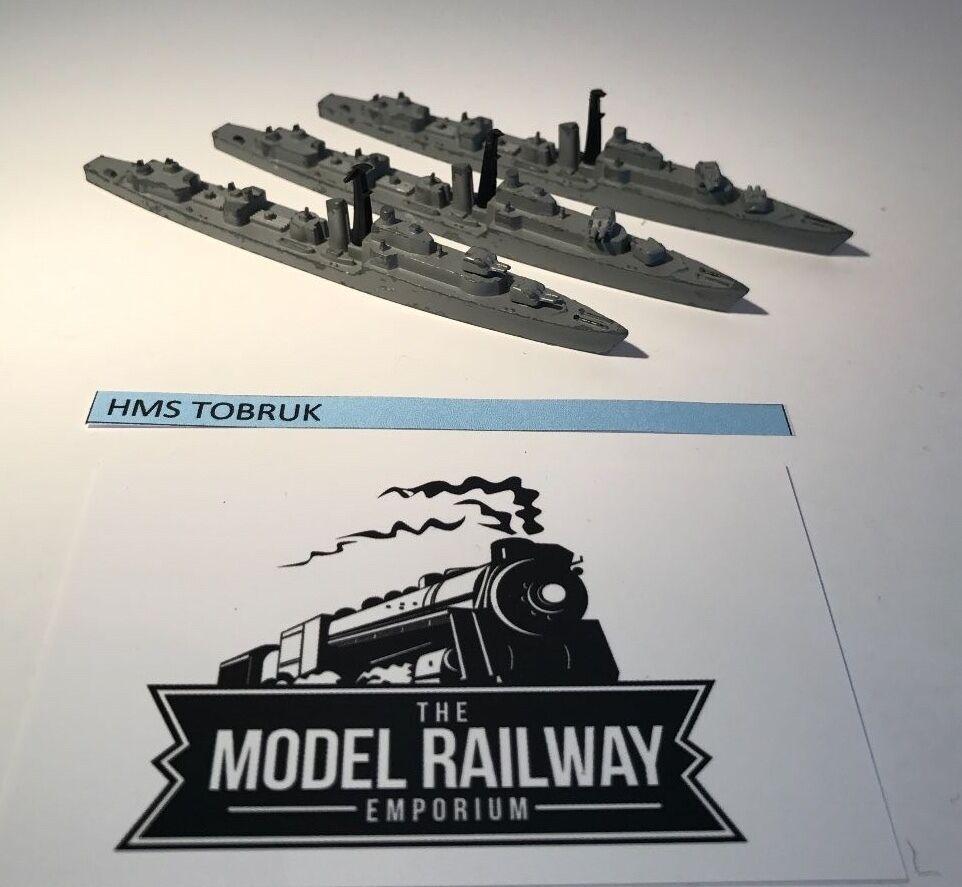 VINTAGE TRIANG MINIC SHIPS - M782 - HMS TOBRUK TOBRUK TOBRUK X 3 - RARE UNBOXED DIECAST 01d163