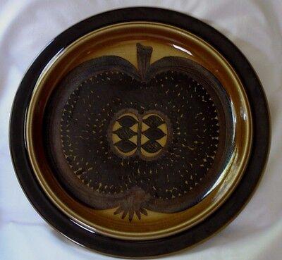 "Arabia of Finland Platter Fructus Brown Round Apple Fruit Gunvor Olin-Grönqv 13"""