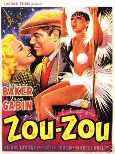Zouzou Josephine Baker Gabin 1934 vintage movie poster print