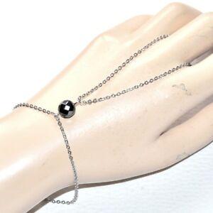 Cadena-de-mano-pulsera-anillo-acero-inoxidable-color-plata-Hematita-joya