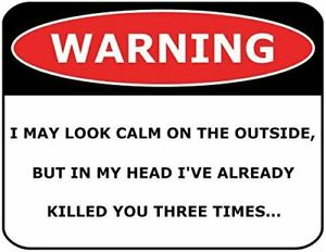WARNING I HATE BEING BIPOLAR IT/'S FREAKING AWESOME Laminated Funny Sign