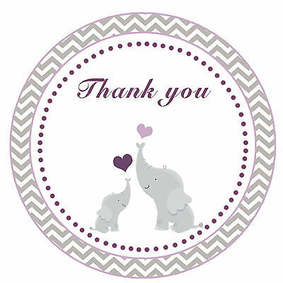 40 Stickers Thank you Labels Blue Monkey Birthday Party Favor Baby Boy Shower A1