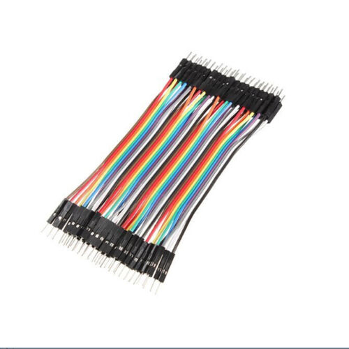 40Pcs 10cm Jumper Wire Cable For Arduino Breadboard Prototyping Male to Male、Fad
