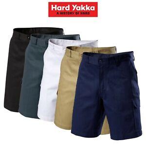 Mens-Hard-Yakka-Generation-Gen-Y-Cotton-Cargo-Drill-Shorts-Work-Tough-Y05500