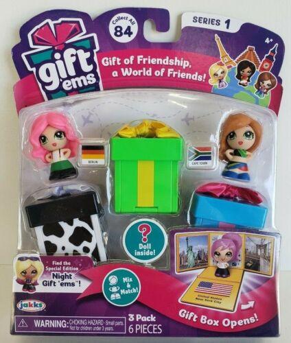 Jakks Gift Ems Series 1  3 Pack  Berlin /& Cape Town