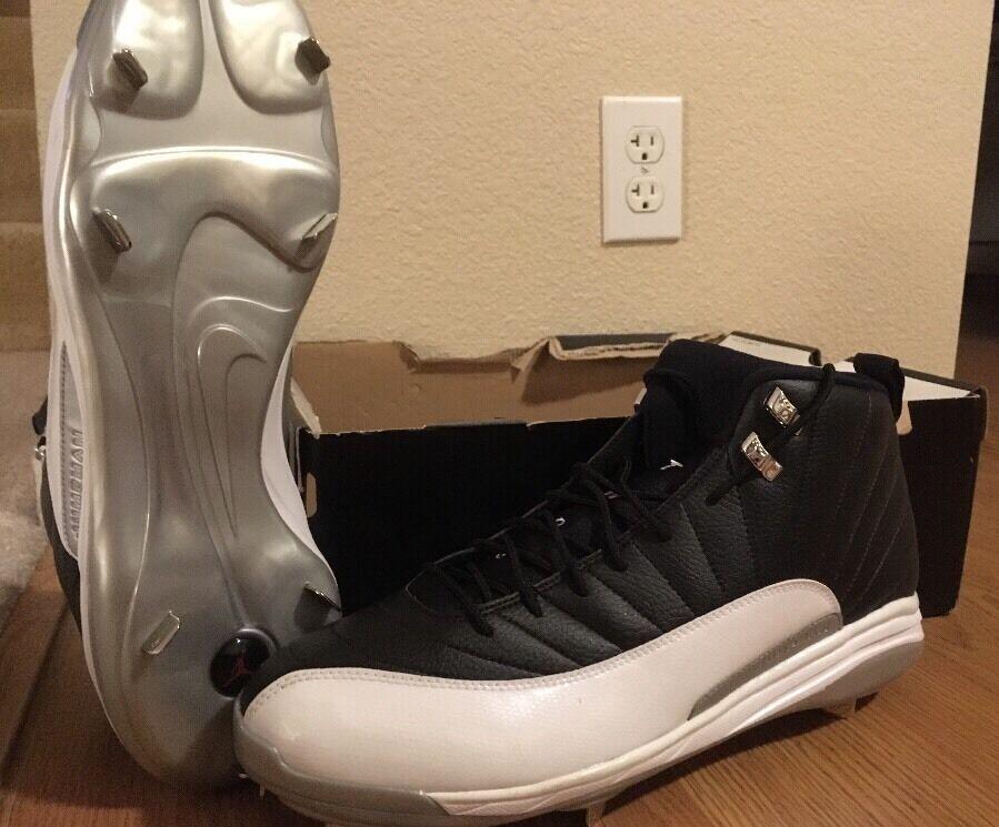 Nike air jordan xii 12 retrò mcs - scarpe sz bianco nero sz scarpe 15 72a34b