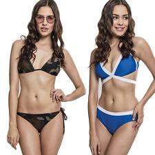 Urban Classics Ladies Animal Triangel Bikini Lady Snake Schlange Leo Schnürung