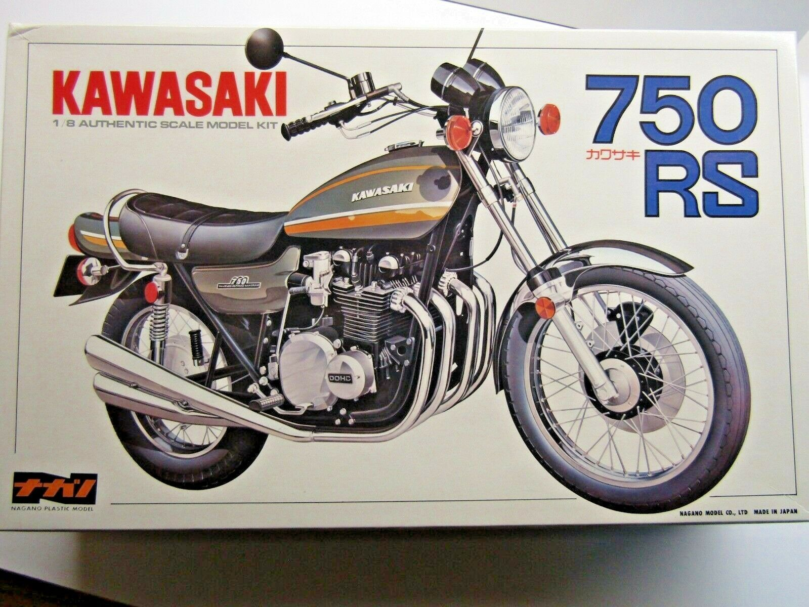 Nagano Vintage 1 8 Scale Kawasaki 750RS (Z1 900) Model Kit - New & Rare