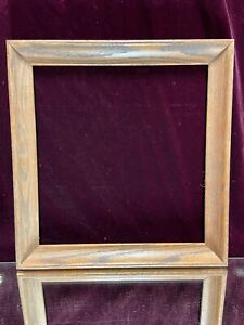 VTG-Aesthetic-Art-039-s-amp-Craft-039-s-Mid-Century-Oak-Wood-Picture-Frame-Fit-13-1-4-034-x14-034