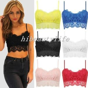 db2f869bf3043 Image is loading Sexy-Lace-Floral-Unpadded-Bralette-Womens-Bralet-Bra-