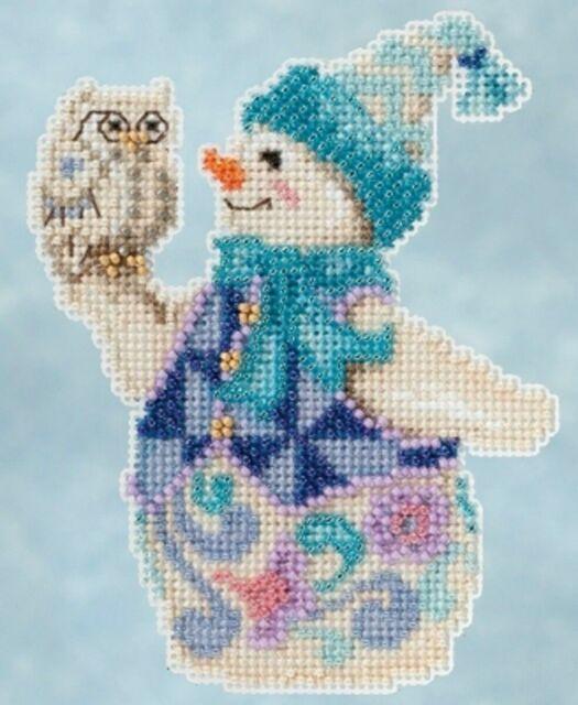 Mill Hill - Jim Shore - Snowy Owl Snowman - Beaded Cross Stitch Kit - JS20-5103