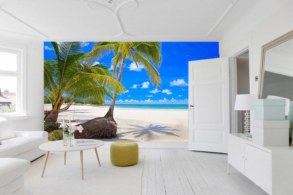 3D Blauer Himmel Strand 863 Tapete Wandgemälde Tapete Tapeten Bild Familie DE
