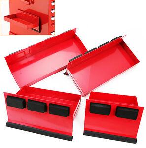 4pc Magnetic Toolbox Tray Set Tool Box Cabinet Side Shelf