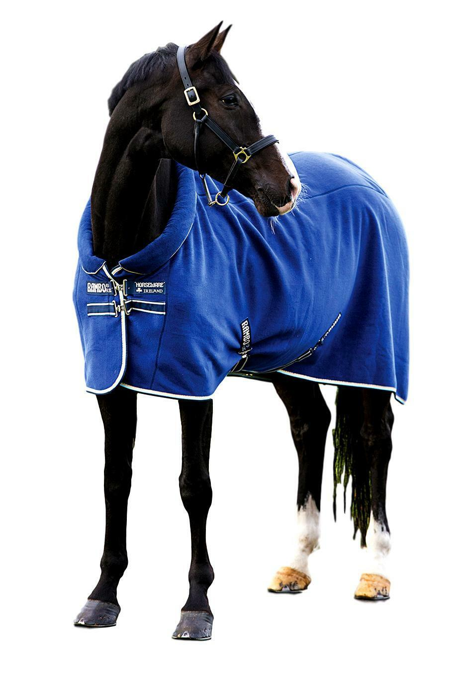 Horseware Ireland Rambo Cosy Fleece Cooler Sheet with Padded Collar