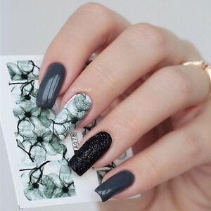 2x-Nail-Art-Water-Transfer-Decal-Manicure-Sticker-Ink-Flowers-Pattern-Manicure