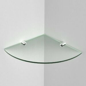 Acrylic-Corner-Safety-Shelf-with-Chrome-Supports-Glass-Effect-White-Black