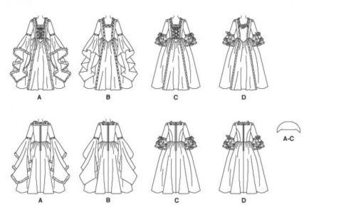 Mccalls Damas Y Niñas Princesa 5731 Patrón De Costura Vestido Encantador Ropa..