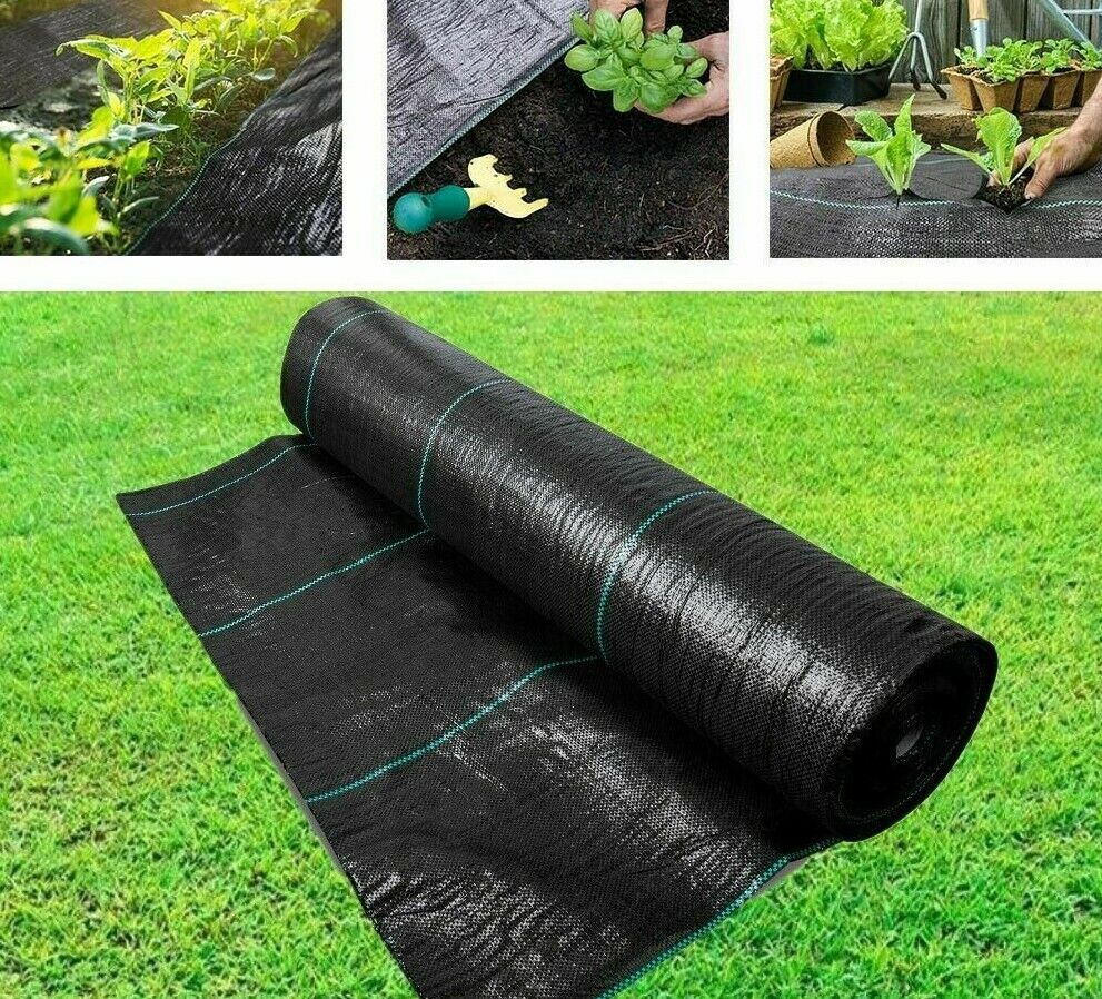 Heavy Duty Weed Control Fabric Membrane Garden Ground Cover Mat Landscape 100GSM