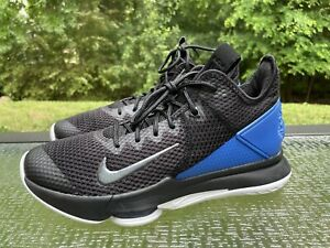 Nike LeBron Witness 4 Men's Size 9 Basketball Sneakers Shoes Black Blue