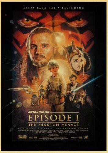 Star Wars Poster Wandbild Bild Vintage Film Krieg der Sterne Deko Sammeln Fan TV