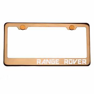Rose Gold Chrome License Plate Frame Range Rover Laser