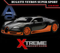 Autoart 70936 1:18 Bugatti Veyron Super Sport Carbon Black/orange Supercar