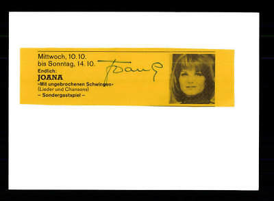 Autogramme & Autographen Joana Original Signiert # Bc 112573 Kataloge Werden Auf Anfrage Verschickt Original, Nicht Zertifiziert
