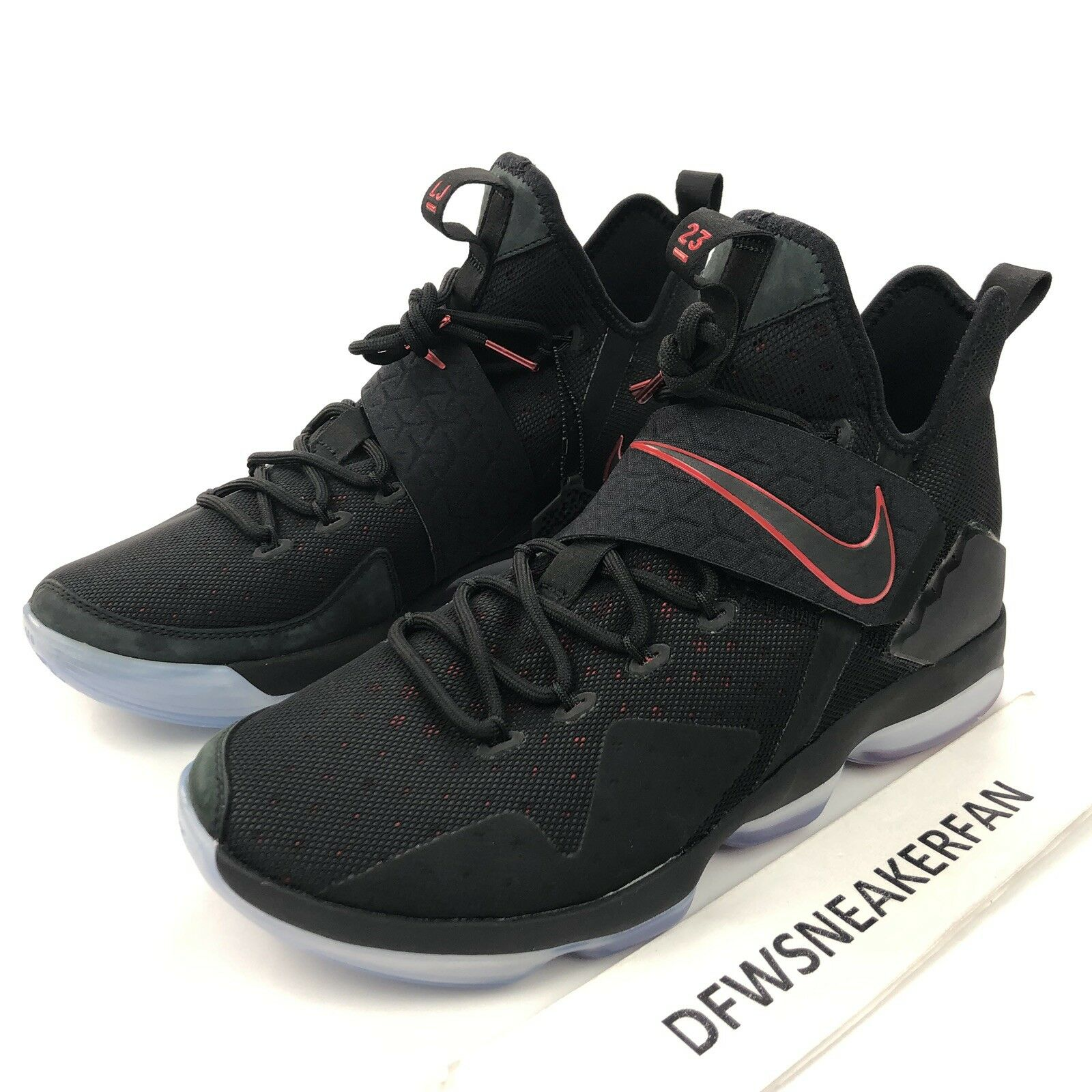 Nike Lebron 14 XIV Men's 9.5 Bred University Red 852405 004 Basketball shoes
