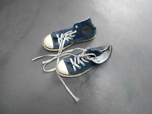 CONVERSE VELOURS BLEU MARINE NAVY T 34 COLLECTOR A 12 ACHAT IMM FP RED MOND REL
