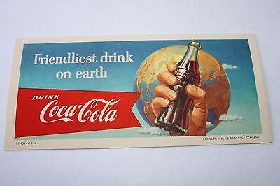 "Lot of 3 VINTAGE 1956 COCA COLA /""Friendliest drink on Earth/"" INK BLOTTER/'S"