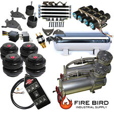 Chevy Silverado C1500 Air Kit Pewter 2600 Bags 1/2 Valve Blk 7 Switch 88-98 xzx