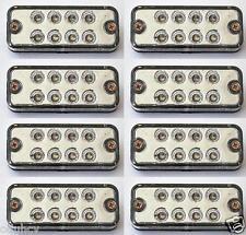 8 pz 12V LED Anteriore Indicatore Laterale Bianco Luci per Camion Furgone