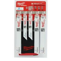 Milwaukee 49-22-1131 Ice Hardened 14 Pc Metal Cutting Sawzall Blade Set w Pouch Tools and Accessories