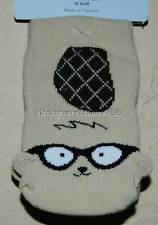 Gymboree Smart Little Guy 6-12 mo Beaver Face Socks Tan Brown NEW Baby Boy