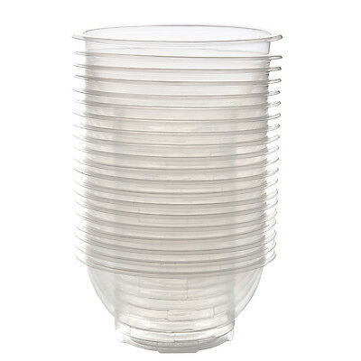 20 Pcs Clear Plastic Disposable Rice Serving Bowl Outdoor Picnic Party