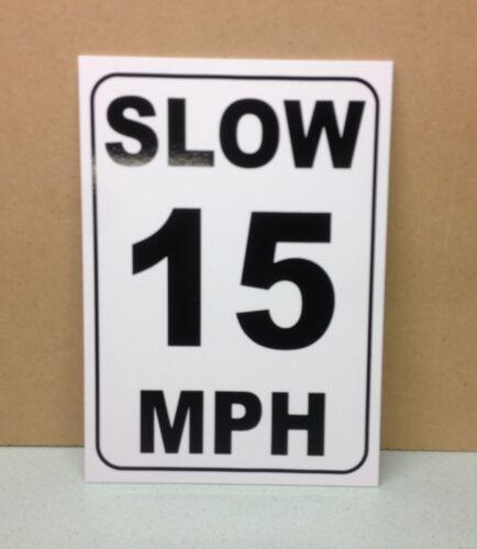 segnale di sicurezza. pl-96 LENTI 15 mph SPEED LIMIT Segnale in plastica