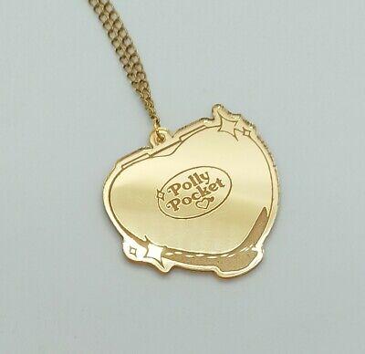 Polly Pocket Bluebird Acrylic Golden Necklace