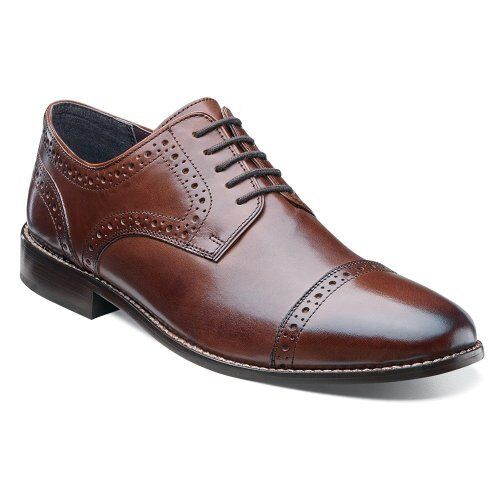 Nunn Bush Norcross Comfort Gel Men's Brown Oxford Leather Shoes Style #84526-200