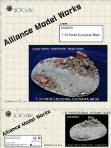 Alliance-Model-Works-1-35-Small-European-Ruin-Resin-Diorama-Base-LW35001