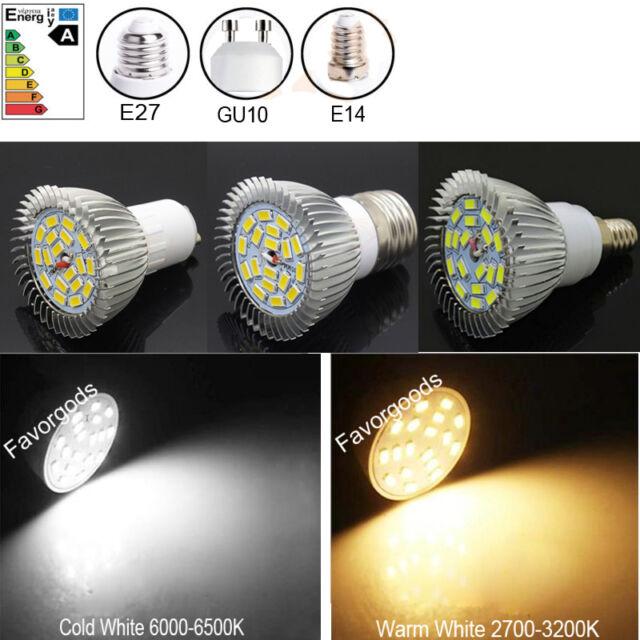 6W E27/E14/GU10 660LM Cold /Warm White  LED Spot light  lamp bulb  AC90-265V